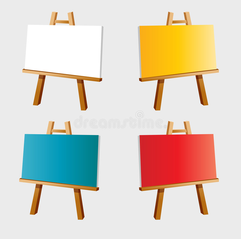 Easel. Easy to resize or change color