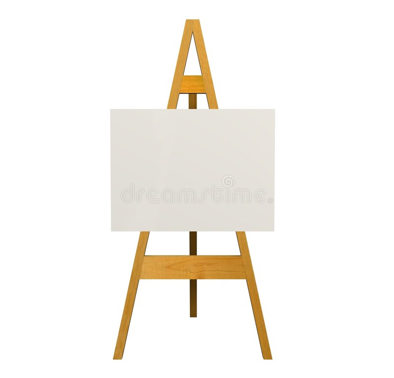 Download Easel stock illustration. Illustration of isolated, rendered - 4625328