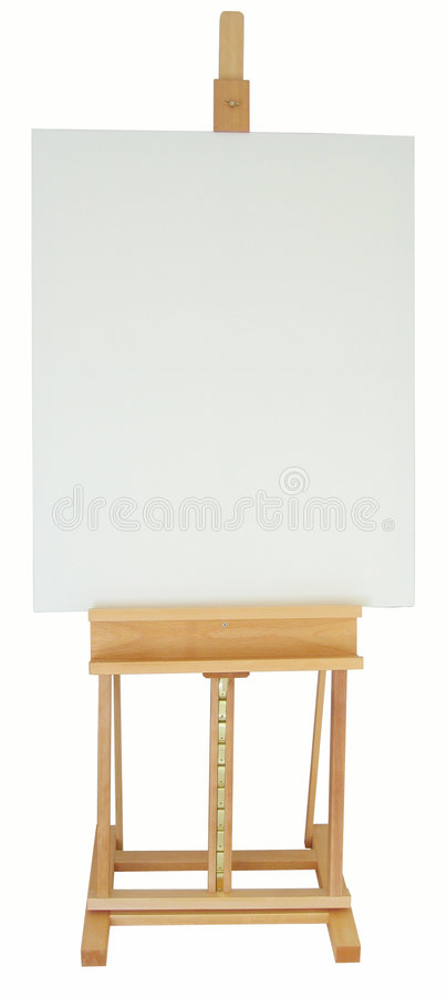 Easel. With clipping path