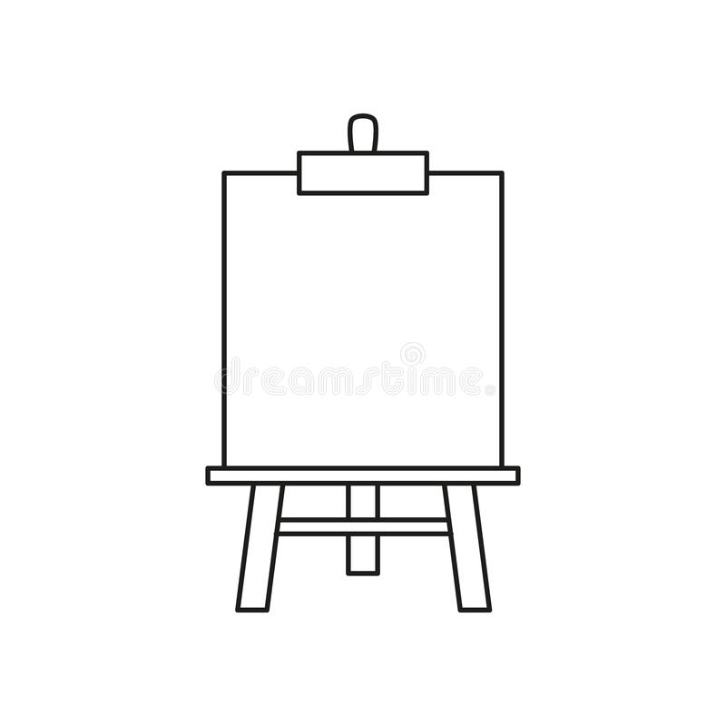 Easel art icon. On the white background vector illustration