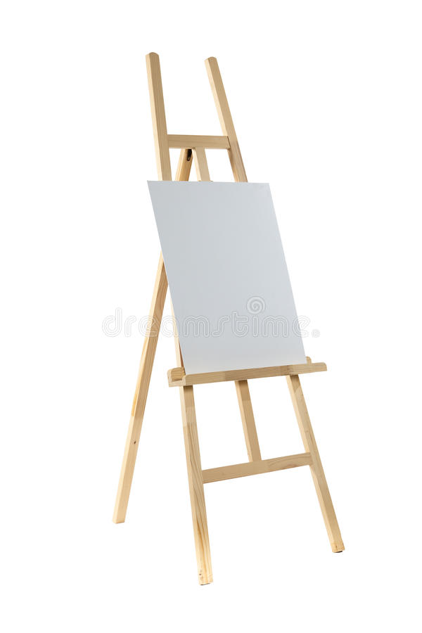 Easel with canvas stock image