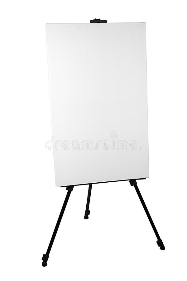 Easel with canvas. Isolated on white stock images