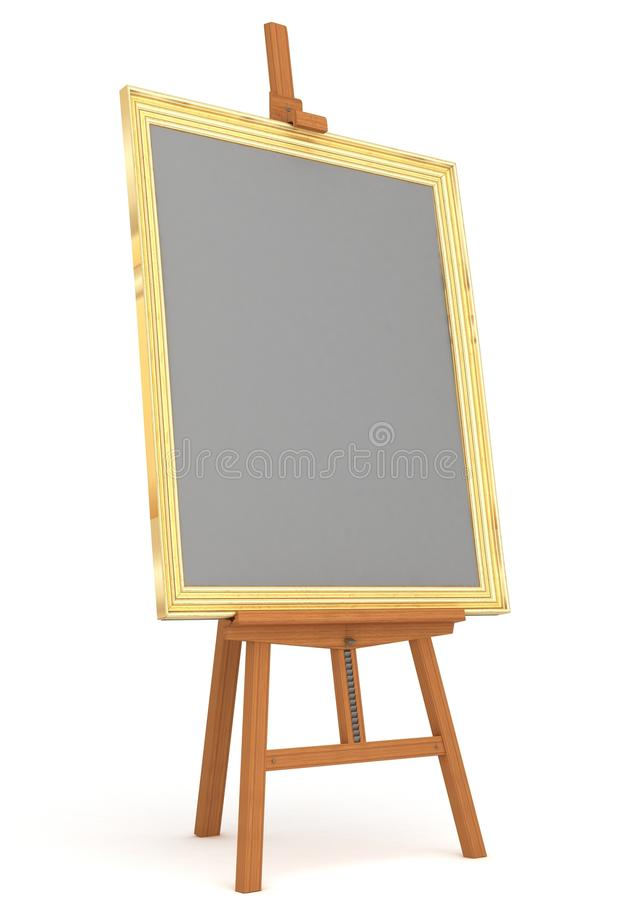 Easel with frame isolated stock illustration. Illustration of object ...