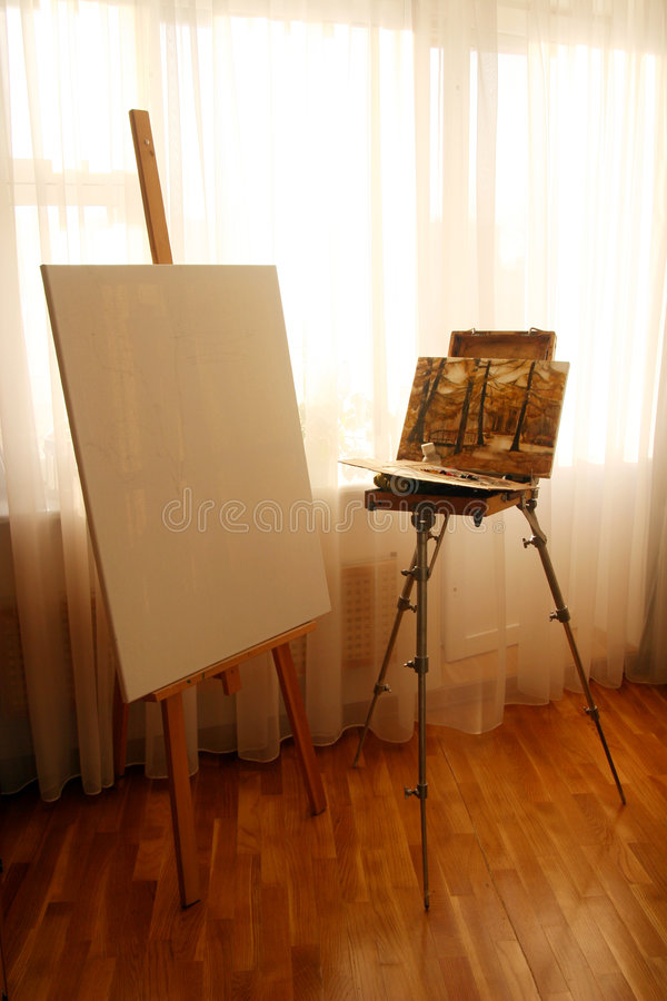 Download Easel in interior stock illustration. Image of home, park - 7621113