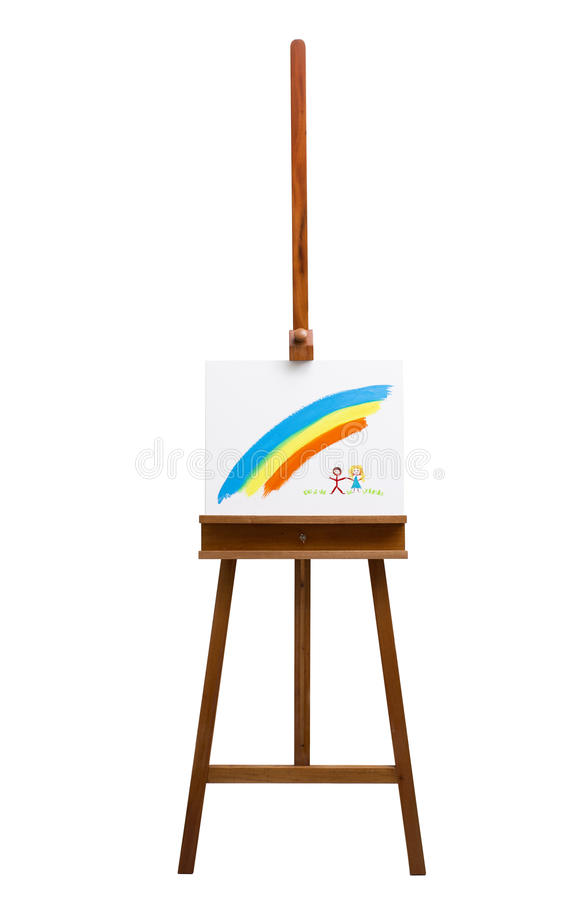 Download Easel Isolated On A White Background Stock Image - Image: 32988743