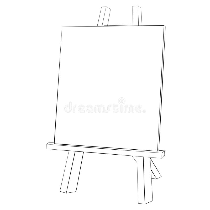 Easel painting royalty free illustration