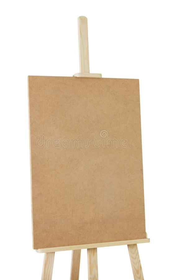 Easel for professional isolated on white. Saved clipping path royalty free stock photo