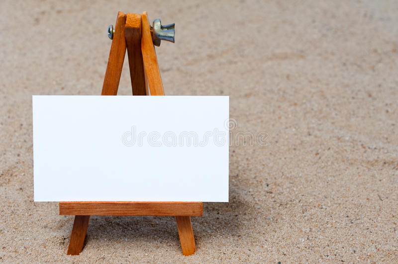 Easel In The Sand Royalty Free Stock Photo