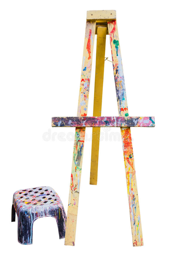 Easel. Small easel for kid isolated stock images