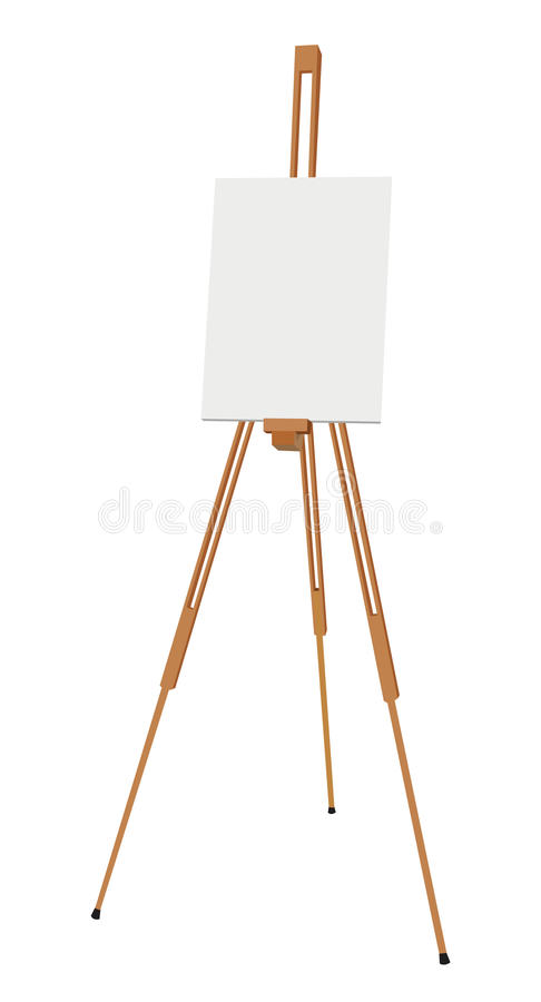 Free Easel With Canvas Stock Photo - 20635380