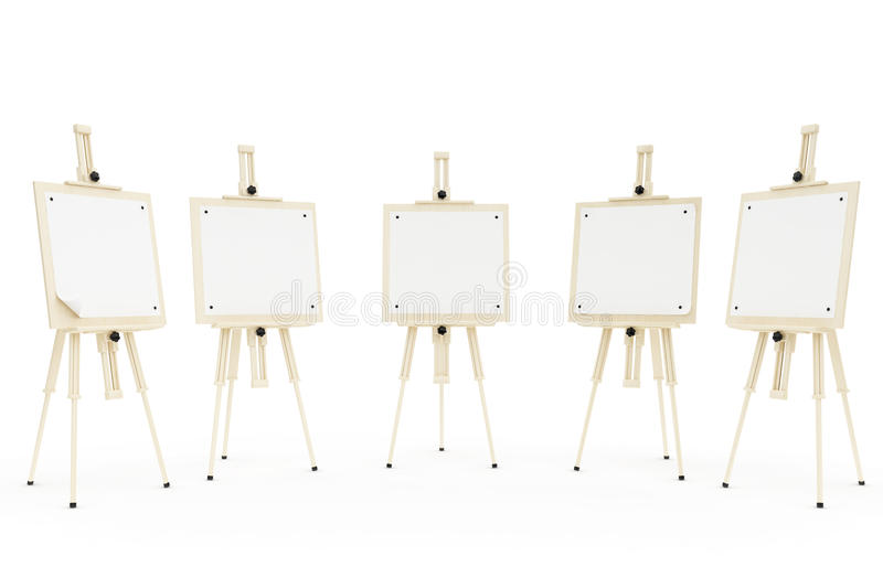 Easels Stock Photo