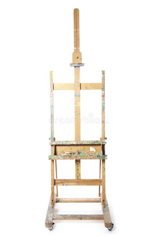 Easle för att måla i studio royaltyfria foton