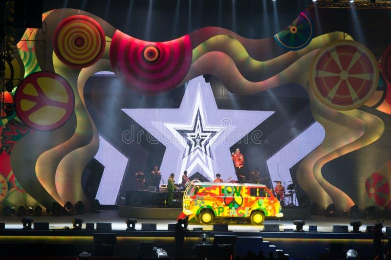 Eason Chan Shanghai Live-Show stockbilder