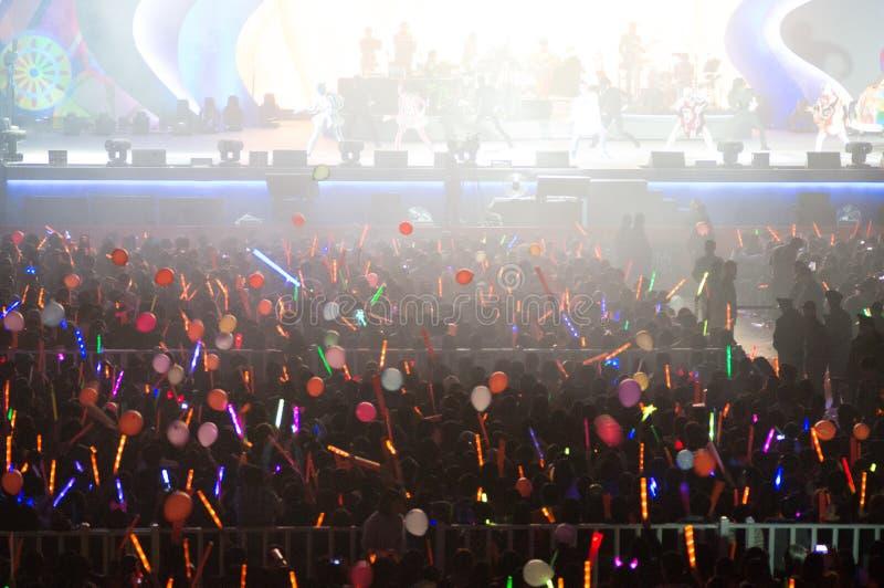 Eason Chan Shanghai Live-Show stockbild