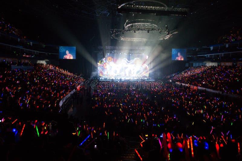 Eason Chan Shanghai Live-Show lizenzfreies stockbild