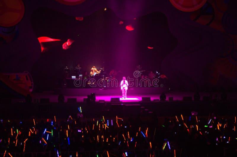 Eason Chan Szanghaj show na żywo fotografia royalty free