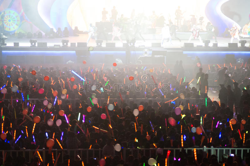 Eason Chan Szanghaj show na żywo obraz stock