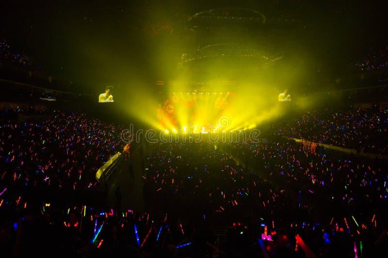 Eason Chan Szanghaj show na żywo zdjęcie stock