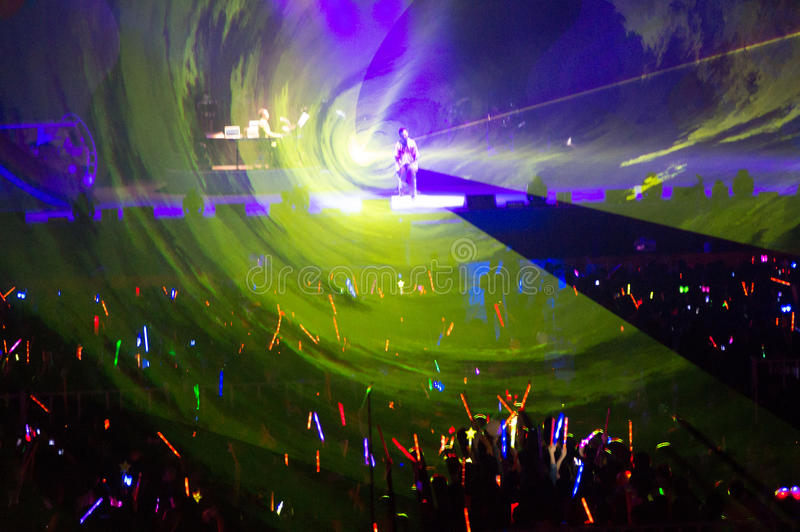 Eason Chan Szanghaj show na żywo obrazy stock