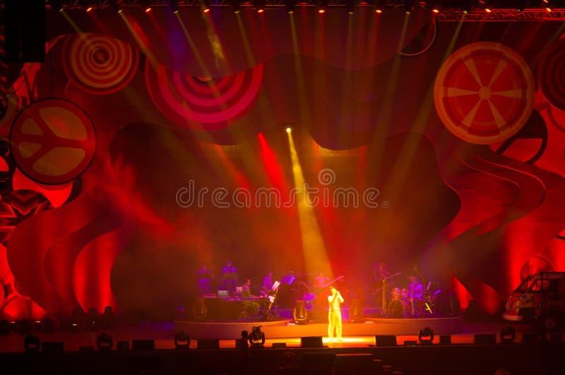 Eason Chan Szanghaj show na żywo obrazy royalty free