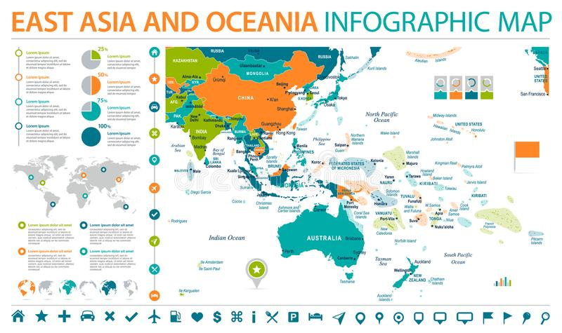 East asia and oceania map info graphic vector illustration stock download east asia and oceania map info graphic vector illustration stock illustration illustration of gumiabroncs Image collections