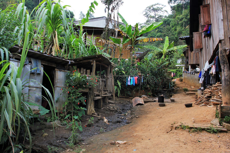 East Asia by och folk - Karen ethnie i Thailand royaltyfri fotografi