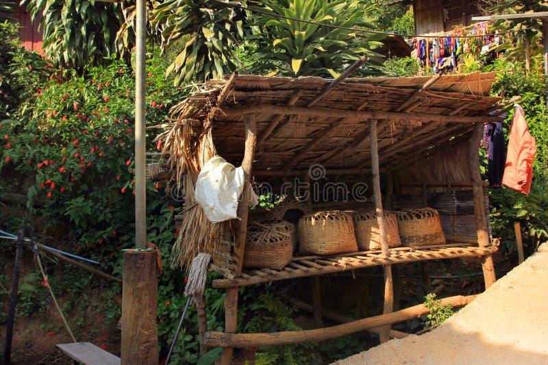 East Asia by och folk - Karen ethnie i Thailand royaltyfria bilder