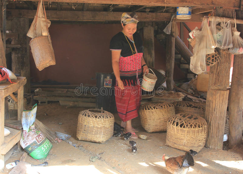 East asia village and people - Karen ethnie in Thailand royalty free stock photography