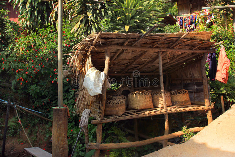 East asia village and people - Karen ethnie in Thailand. Karen ethnie village and people located within the jungle forest of Chiang Mai province , Thaïland royalty free stock images