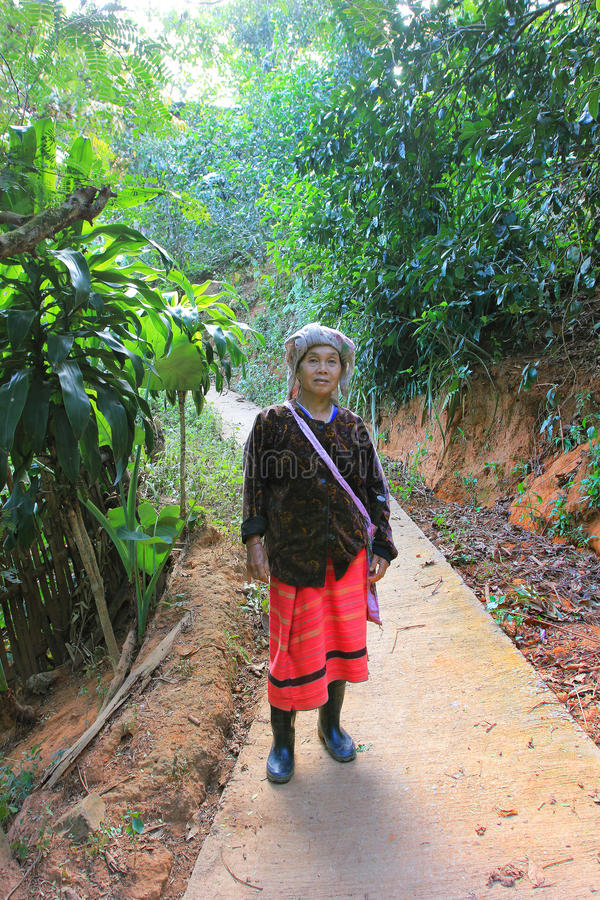 East asia village and people - Karen ethnie in Thailand. Karen ethnie village and people located within the jungle forest of Chiang Mai province , Thaïland stock images