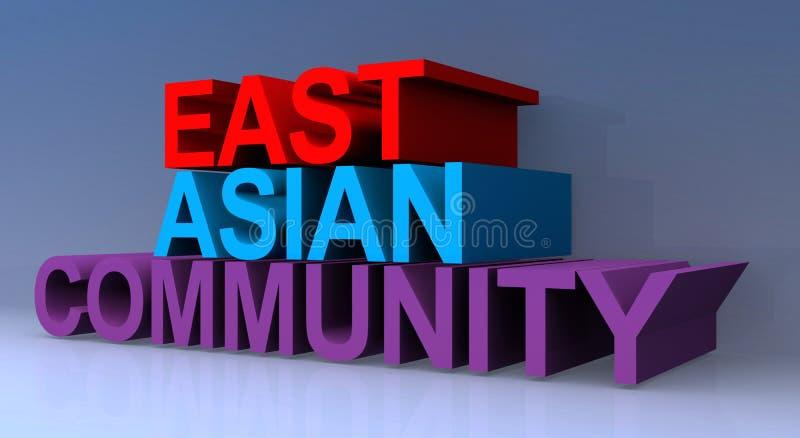 East asian community. On blue royalty free illustration