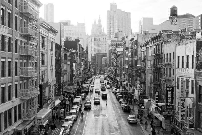 East Broadway BW High Contrast stock photo