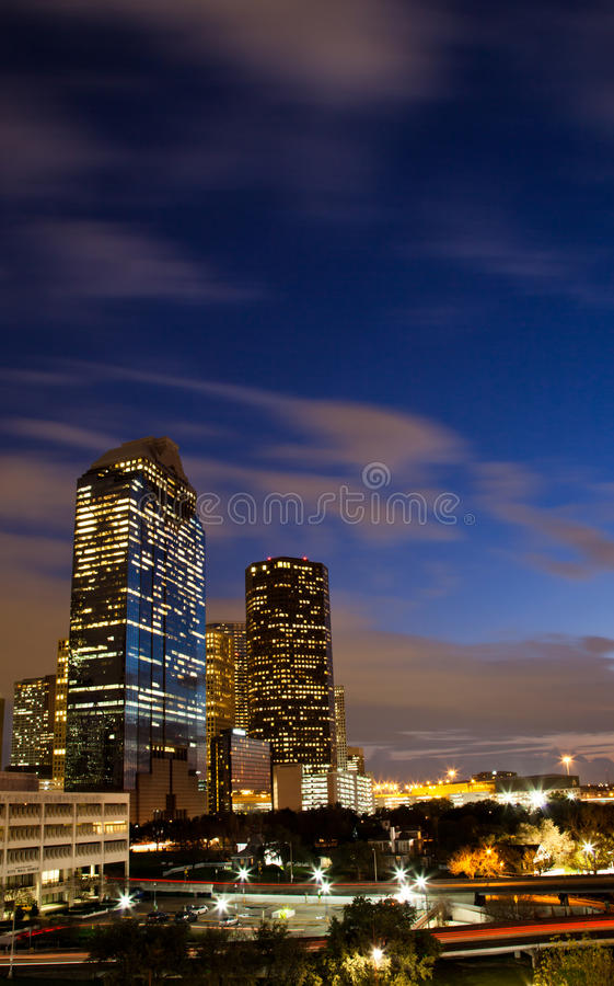 East buildings of downtown Houston royalty free stock photo