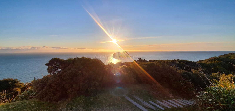 East Cape lighthouse New Zealand royalty free stock photo