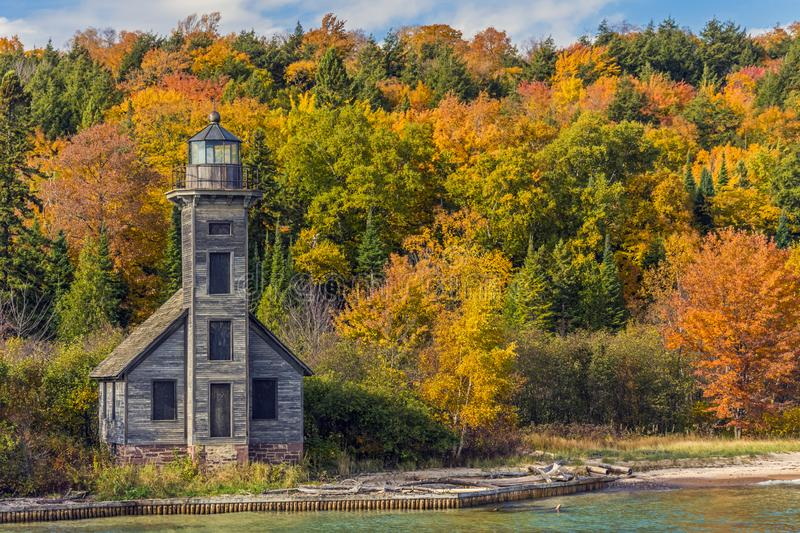 East Channel Lighthouse on Grand Island royalty free stock image