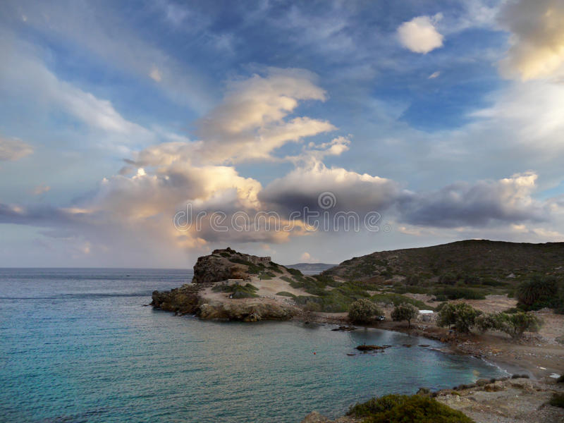 East Crete Coast Paleokastro Bay Beach royalty free stock photos