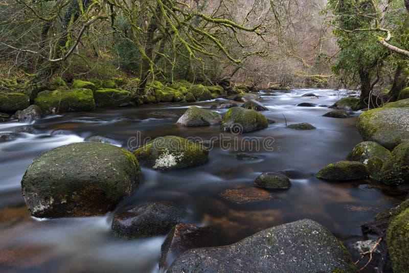 East Dart River. At Dartmeet. Dartmoor National Park. Devon. Southwest England, UK. Europe stock photo