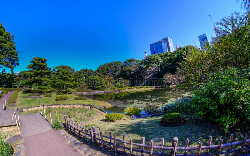East Gardens of the Imperial Palace in Tokyo. stock photography