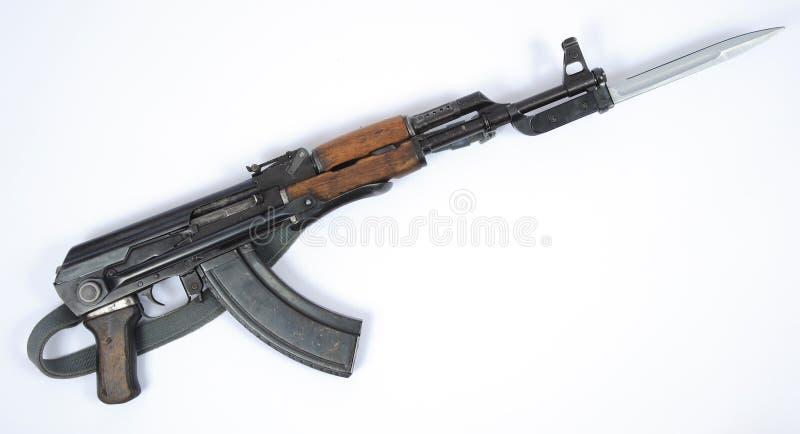 East German Kalashnikov AK47 with bayonet royalty free stock photos