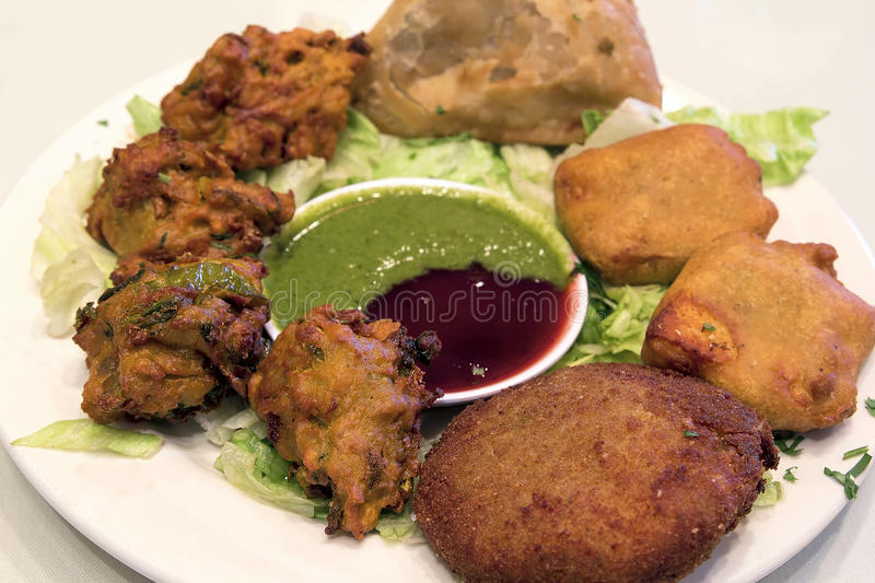 East Indian Food Appetizer Dish Closeup royalty free stock photo