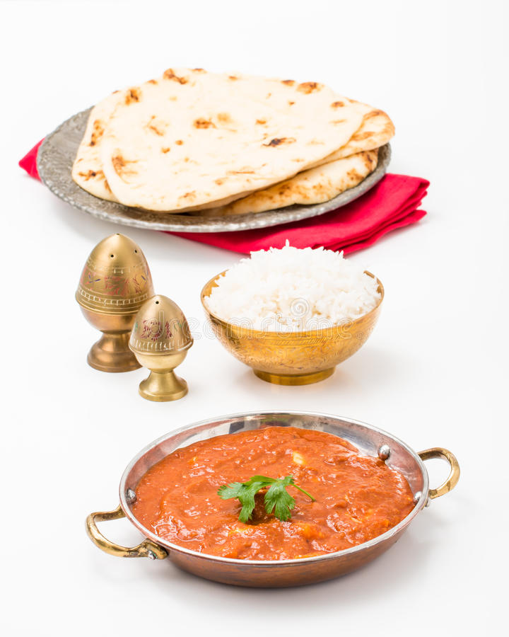 East Indian Meal stock photography