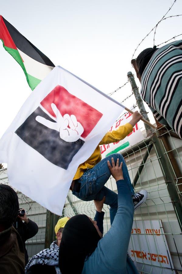Download East Jerusalem Protest editorial stock photo. Image of flag - 17830218