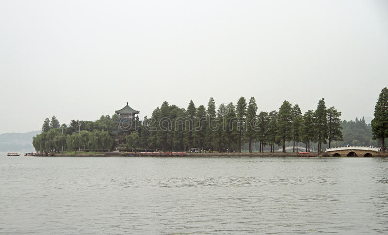 Download East lake in Wuhan, China stock photo. Image of pagoda - 73360028