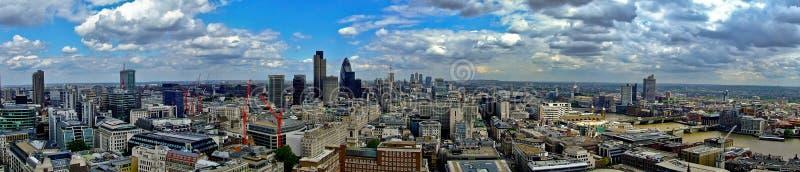 East London panorama royalty free stock photo