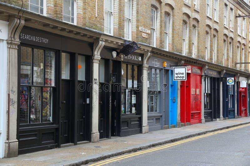 East London shopping stock image