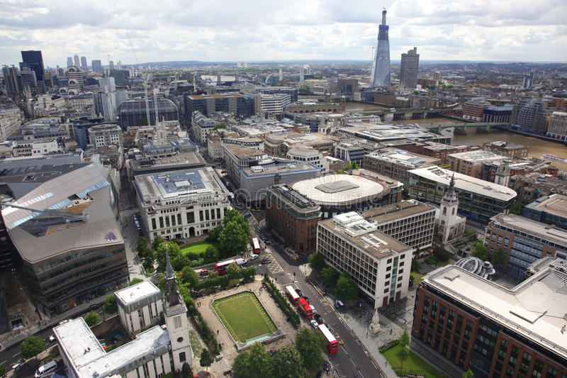 East of London from St Paul's Cathedral royalty free stock photos