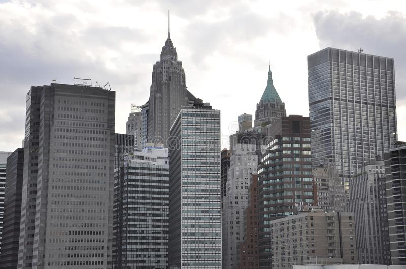 East Manhattan Skyscrapers from New York City in United States stock photo