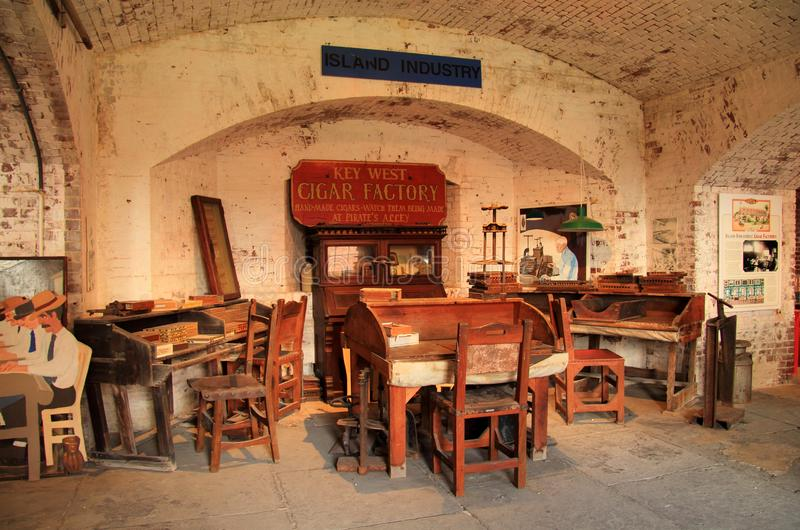 East Martello Tower Cigar Industry Exhibit stock photography