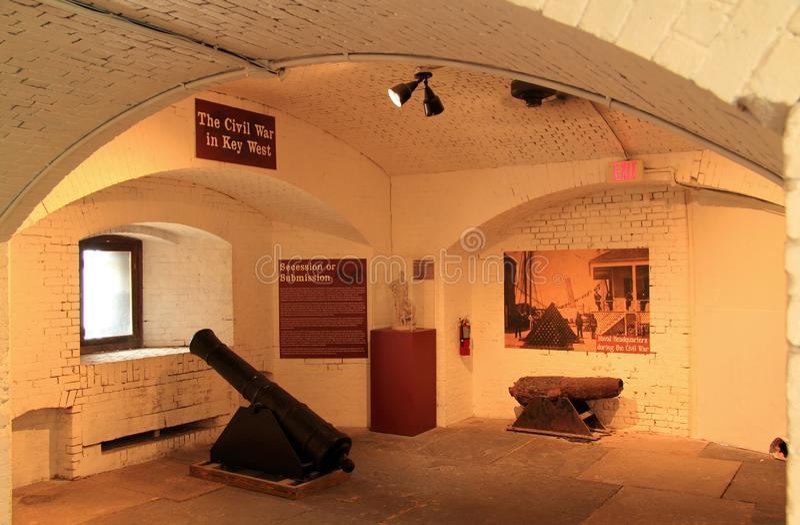East Martello Tower Civil War Exhibit stock photo