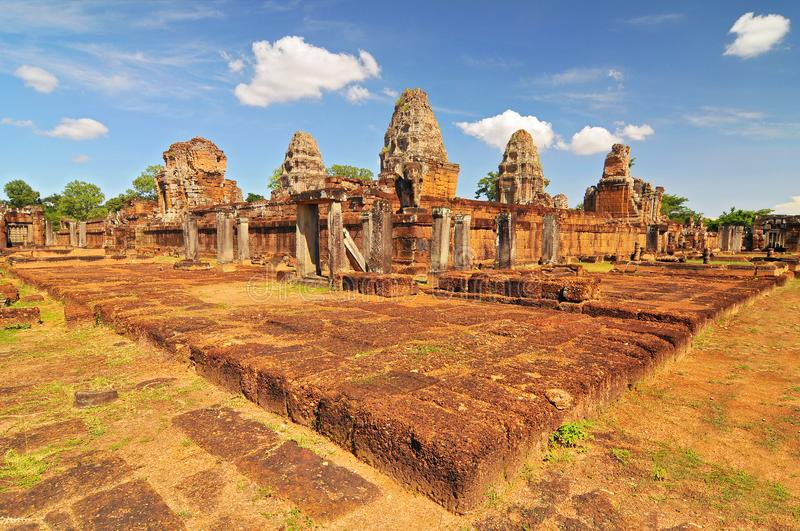 East Mebon Temple in Angkor complex, Siem Reap, Cambodja royalty-vrije stock foto's